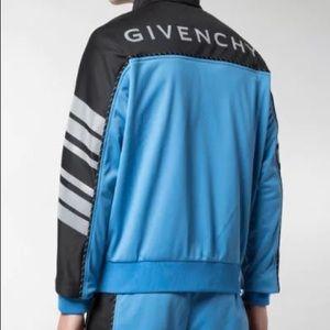 $1730 Givenchy men 2 tone track jacket size m